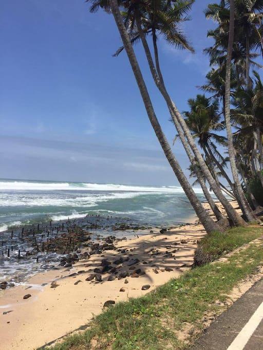 beach 5 mins walk
