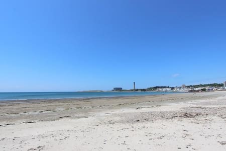 Beachfront Private room & bath short walk to town