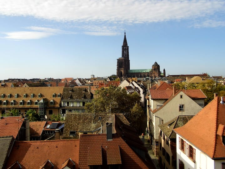 Loft familial avec vue sur la cathédrale