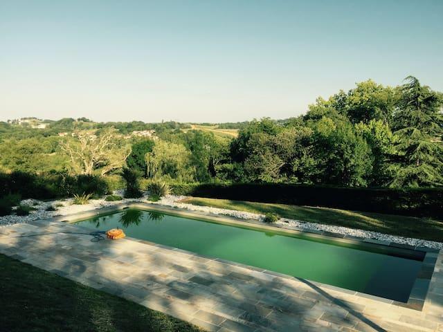 Villa 180m2, Piscine 12m vue imprenable PBasque - Hasparren - บ้าน
