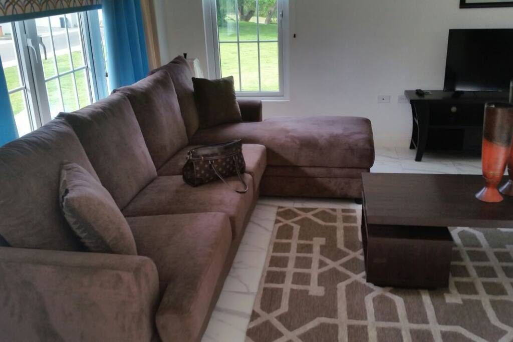 Living room with roll out sofa bed