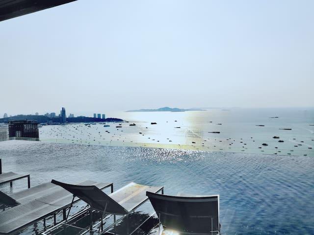芭堤雅Centric Sea中心海/海景网红无边泳池/Terminal 21/中文/A7