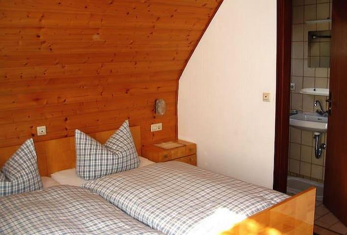 Ferienhof Huber, (Ohlsbach), Doppelzimmer mit Dusche und WC