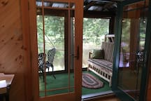 screened riverside porch