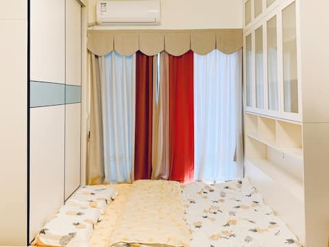 Cozy & Romantic Entire Apartment in Ariel's House, Japanese Style tatami, Near Baiyun Airport Near Rongchuang Ski Park Near Guangzhou North Station
