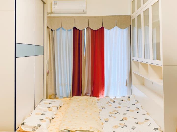 Ariel's House 新房 温馨浪漫整套公寓,日式榻榻米,近白云机场近融创滑雪乐园