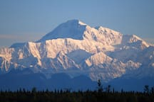 Denali. Highest mountain in North America. As seen from My Alaska Cabin.