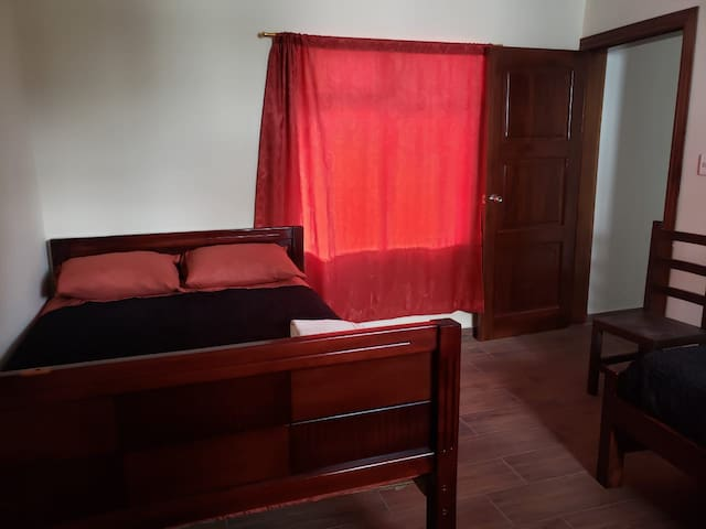 Room (1 double bed / 1 individual bed) / Cuarto (1 cama doble/1cama individual)