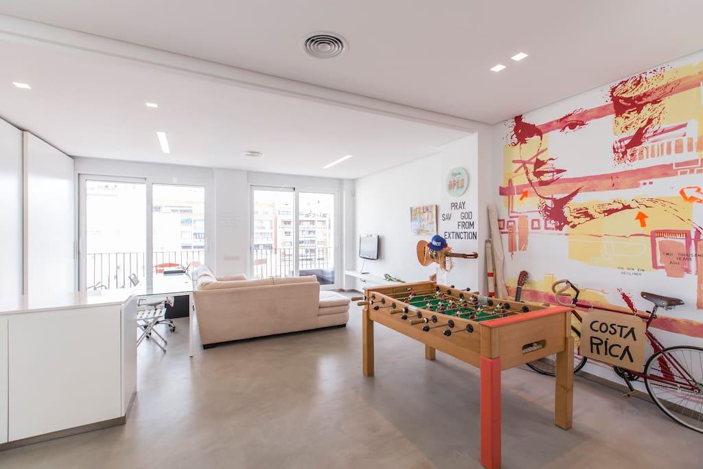 Moderno loft de artista con terraza en l eixample apartamentos en alquiler en val ncia - Alquiler de loft en valencia ...