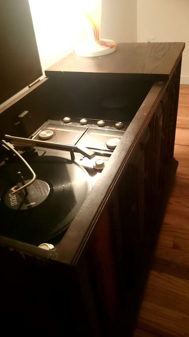 Console (record player under repair)