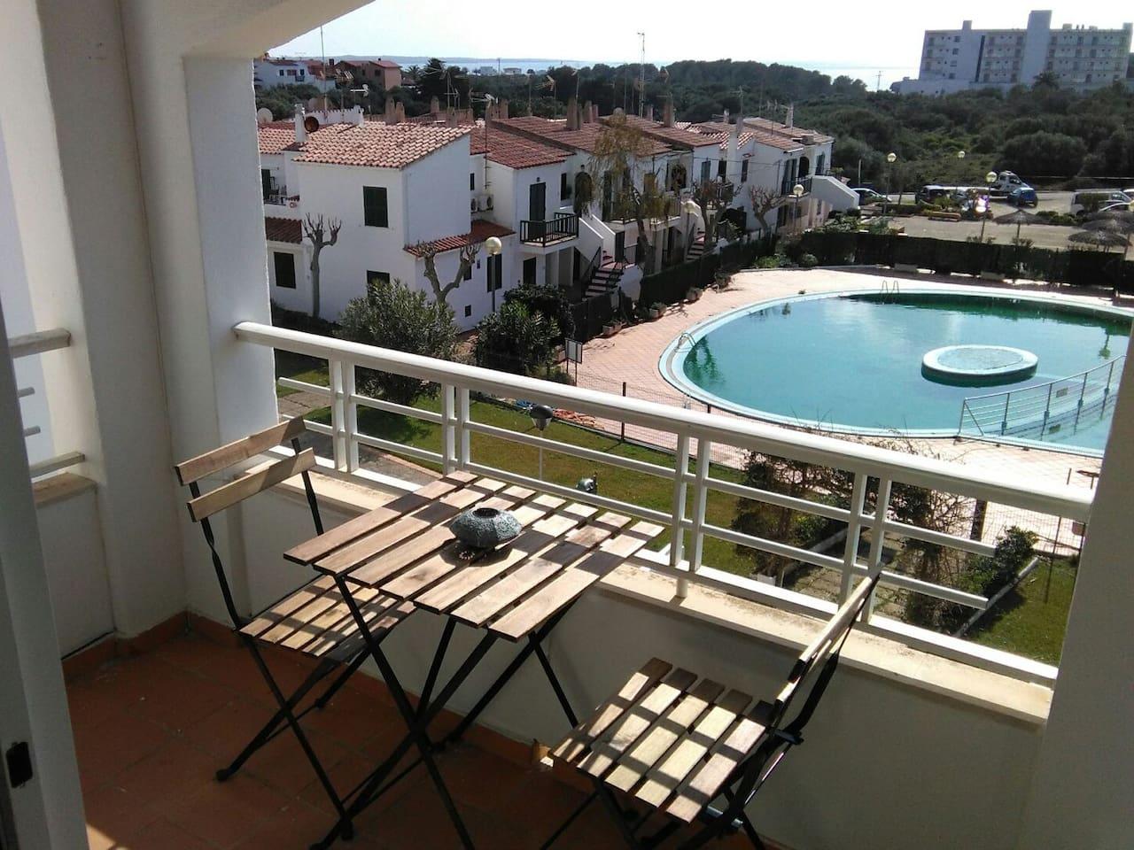 Balcón muy soleado
