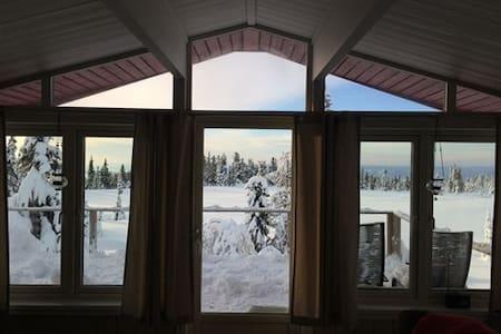Spacious cabin in Sjusjoen with view - Sjusjøen - Cottage