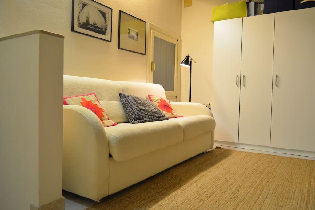 A comfortable sofa...
