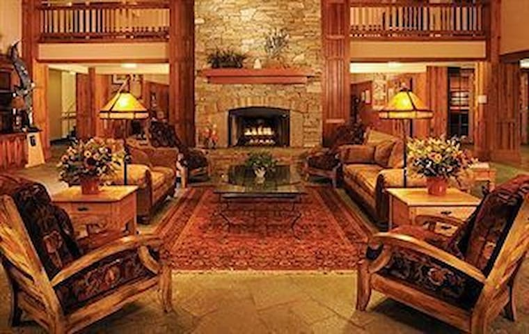 The main lodge has a beautiful, inviting main room, flavorful cuisine is offered in the restaurant behind the grand room.