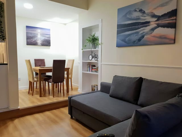 Practical Edinburgh 1 Bedroom Flat with Sofa Bed