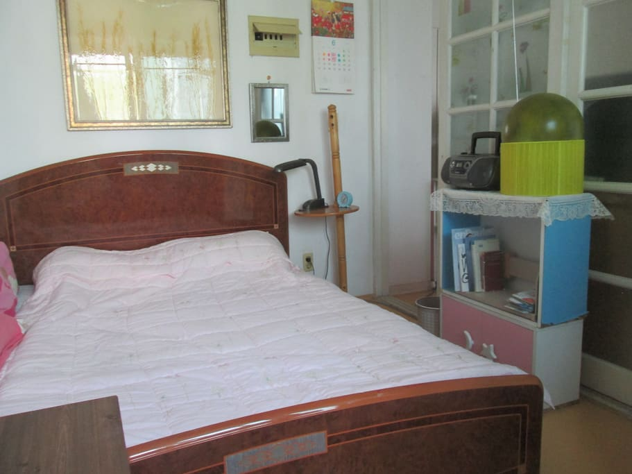 second bedroom with double bed