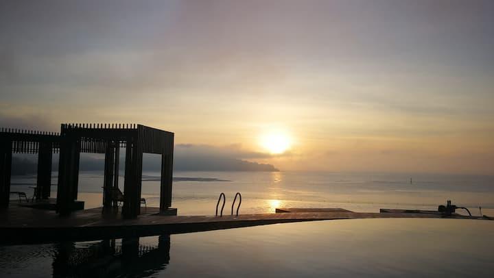 5★优质海景假期Beachfront studio2 with sunrise view@ KWRC