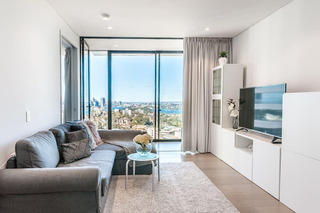 FREE PARKING Modern apartment Sydney harbour view ...