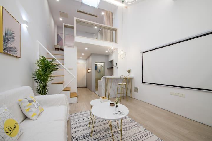 【暮光之城】扬州东关街旁古运河畔北欧风格LOFT复式精品公寓