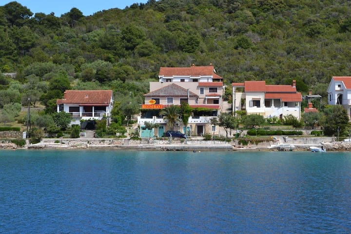 Spacious Sea-Front Apartment in Molat with Sea View