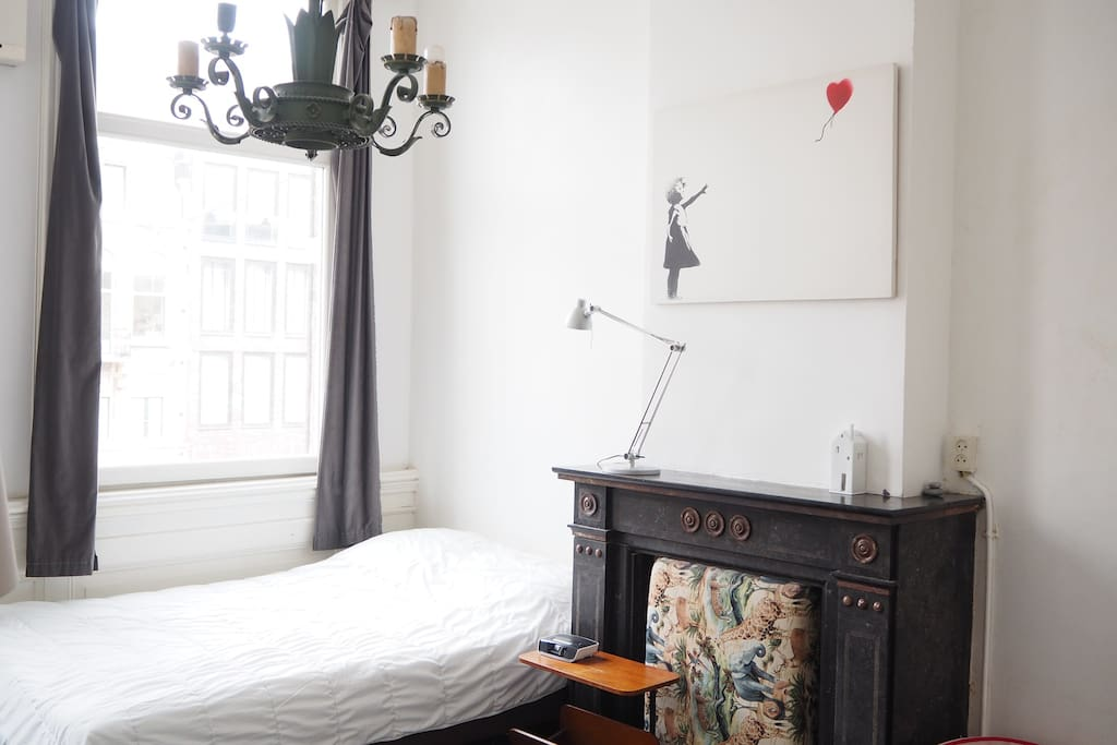 Private bedroom corner view