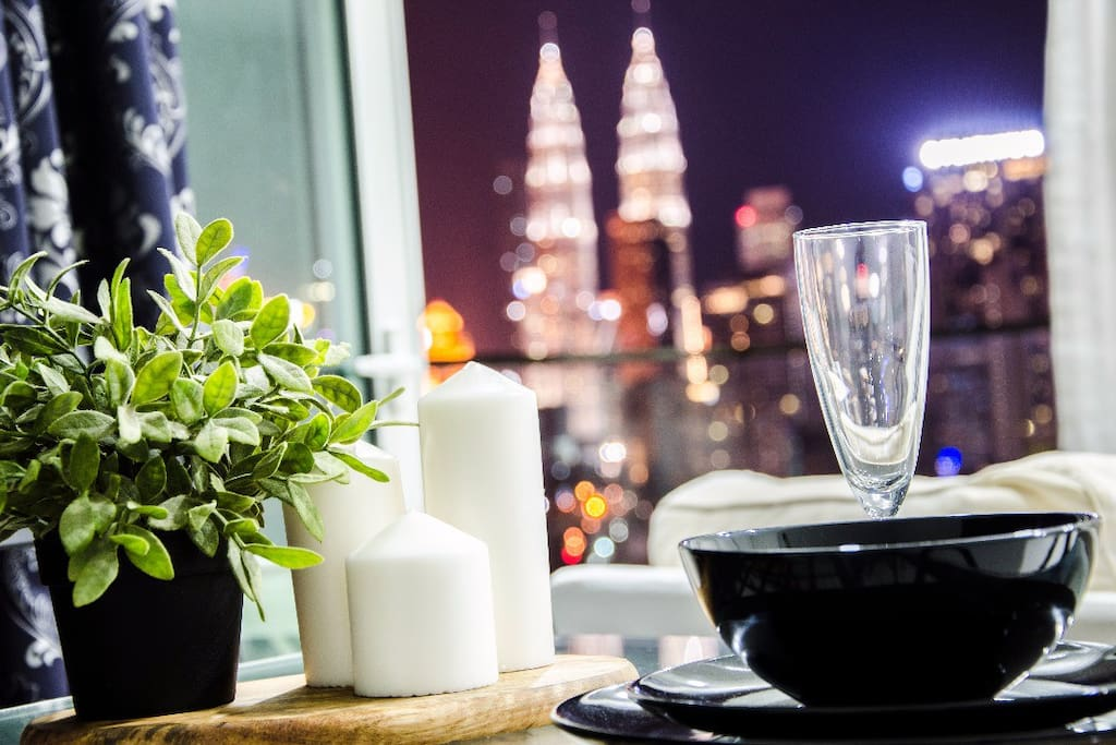 Dinner with perfect KLCC View