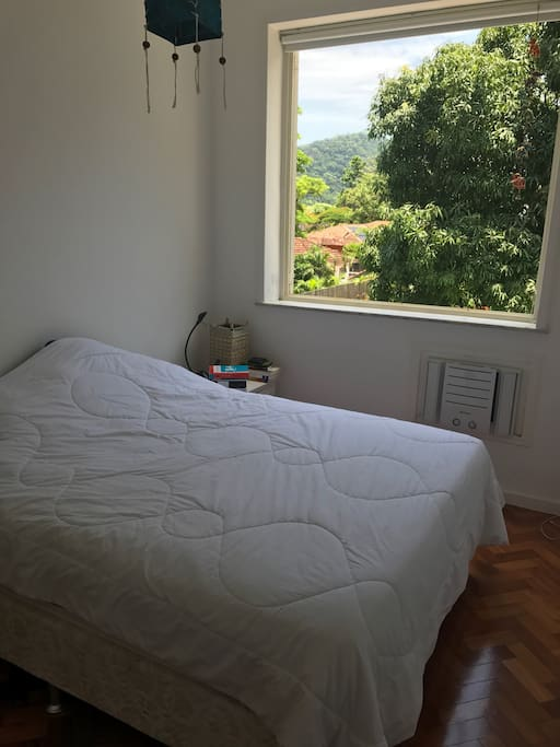 Room with comfortable bed