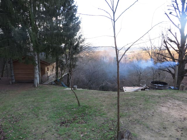 Cabane bois Drôme des collines Bain nordique - Ratières