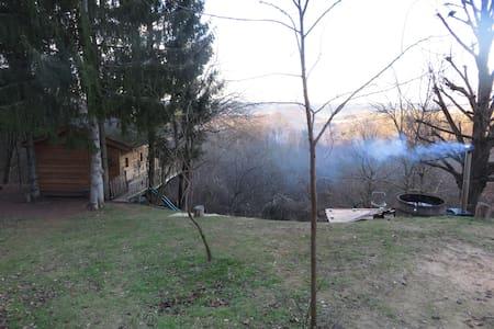 Cabane bois Drôme des collines Bain nordique - Ratières - 树屋