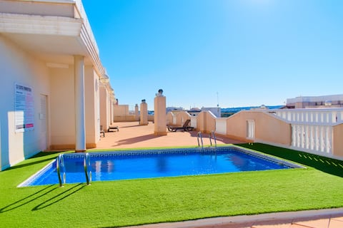 4 Bed Ground Floor Apartment with rooftop Pool