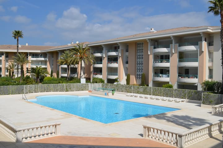 French Riviera, Port-Frejus, pool and beaches