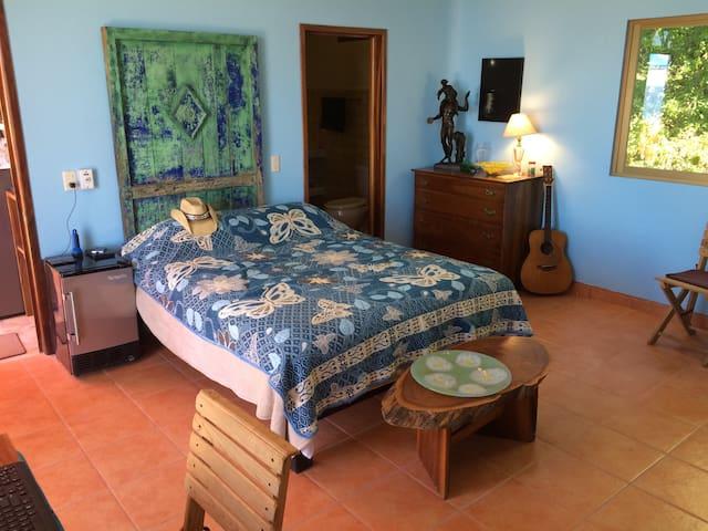Villa Ndan Blue bedroom, upper level
