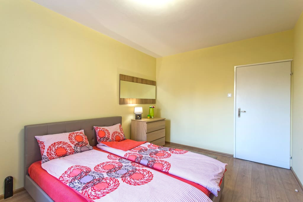 One of two lovely bedrooms, where you are relaxing in comfortable atmosphere after a long walking tour in Sofia city...