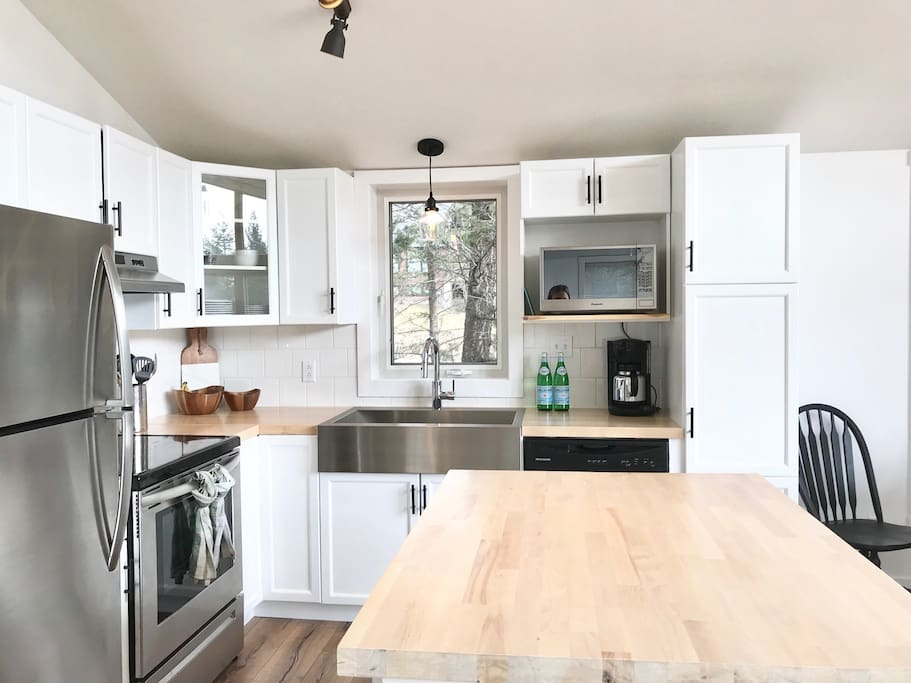 Bright open kitchen