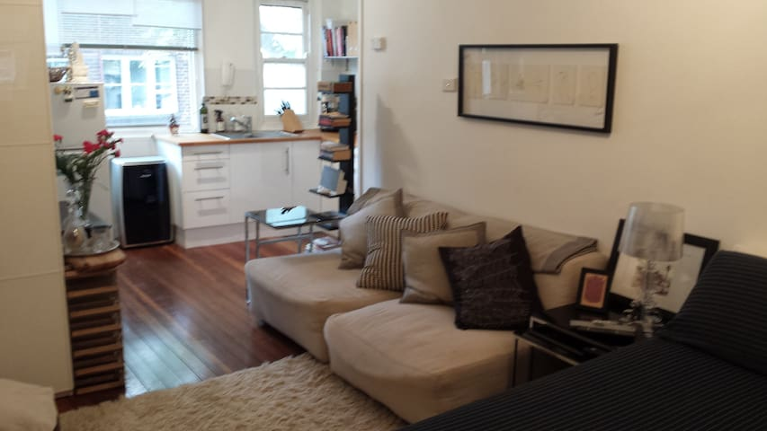 Chic, Charming, light filled studio - Potts Point - Apartamento