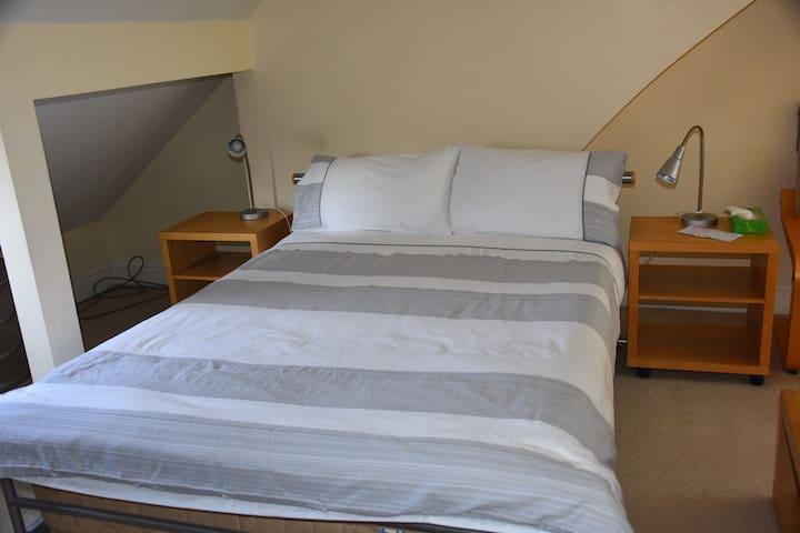 West Didsbury large attic  en suite  bedroom.