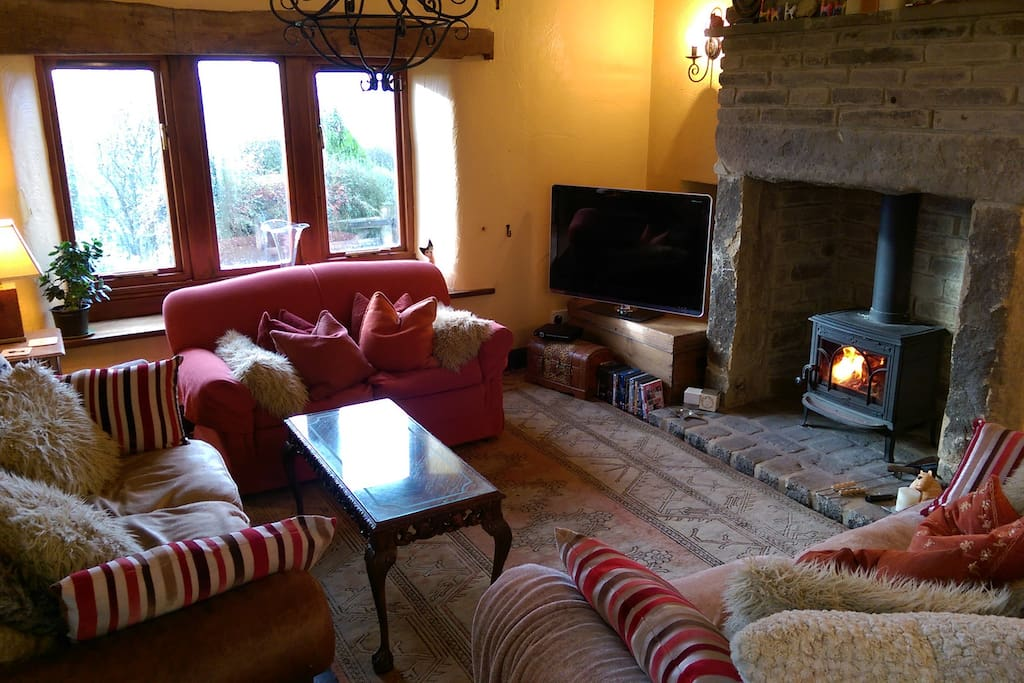 This wonderful cosy living room with log burner, TV, DVD, Games and wireless speaker is your private living room to enjoy!