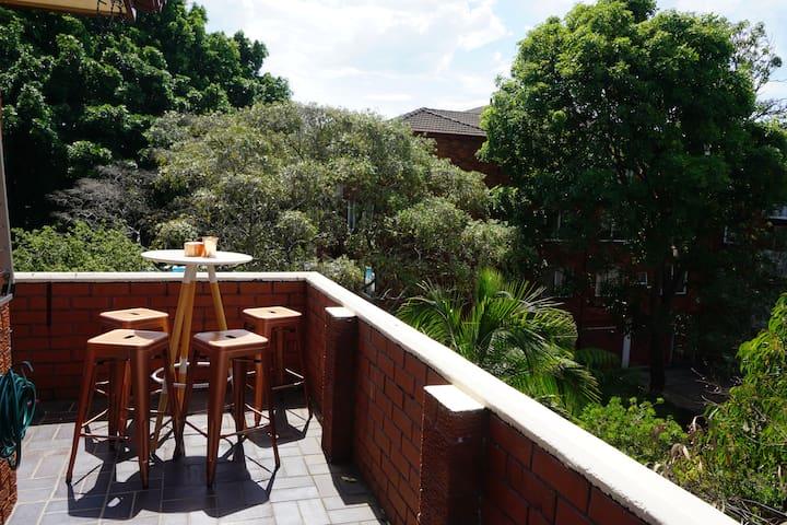 Sunny, newly renovated/decorated & large balcony