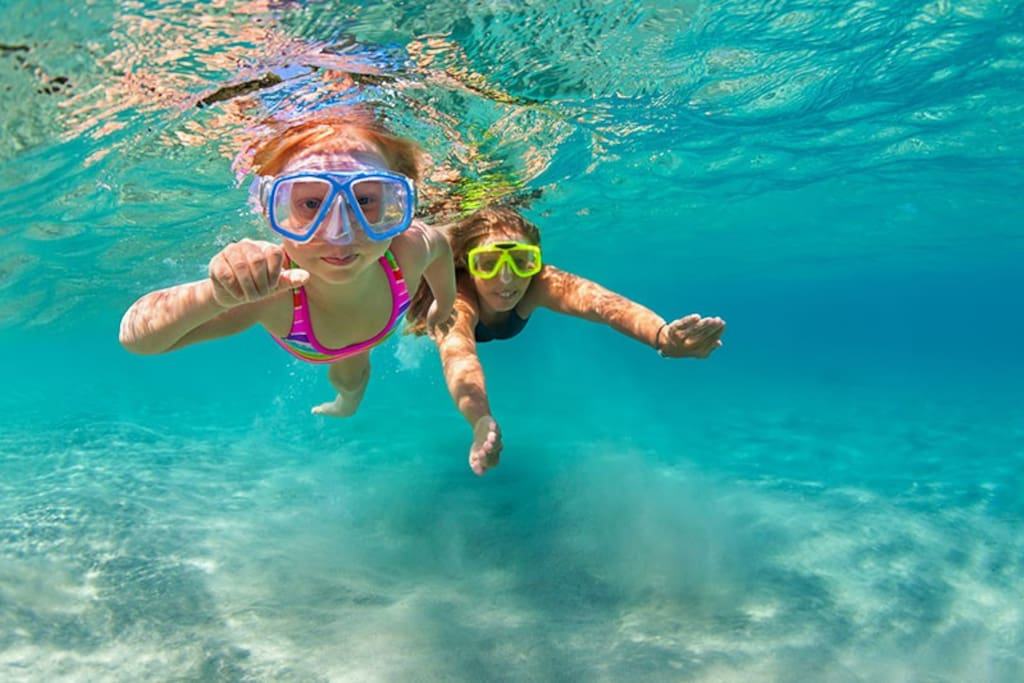 Snorkel is some of the most pristine water in the world