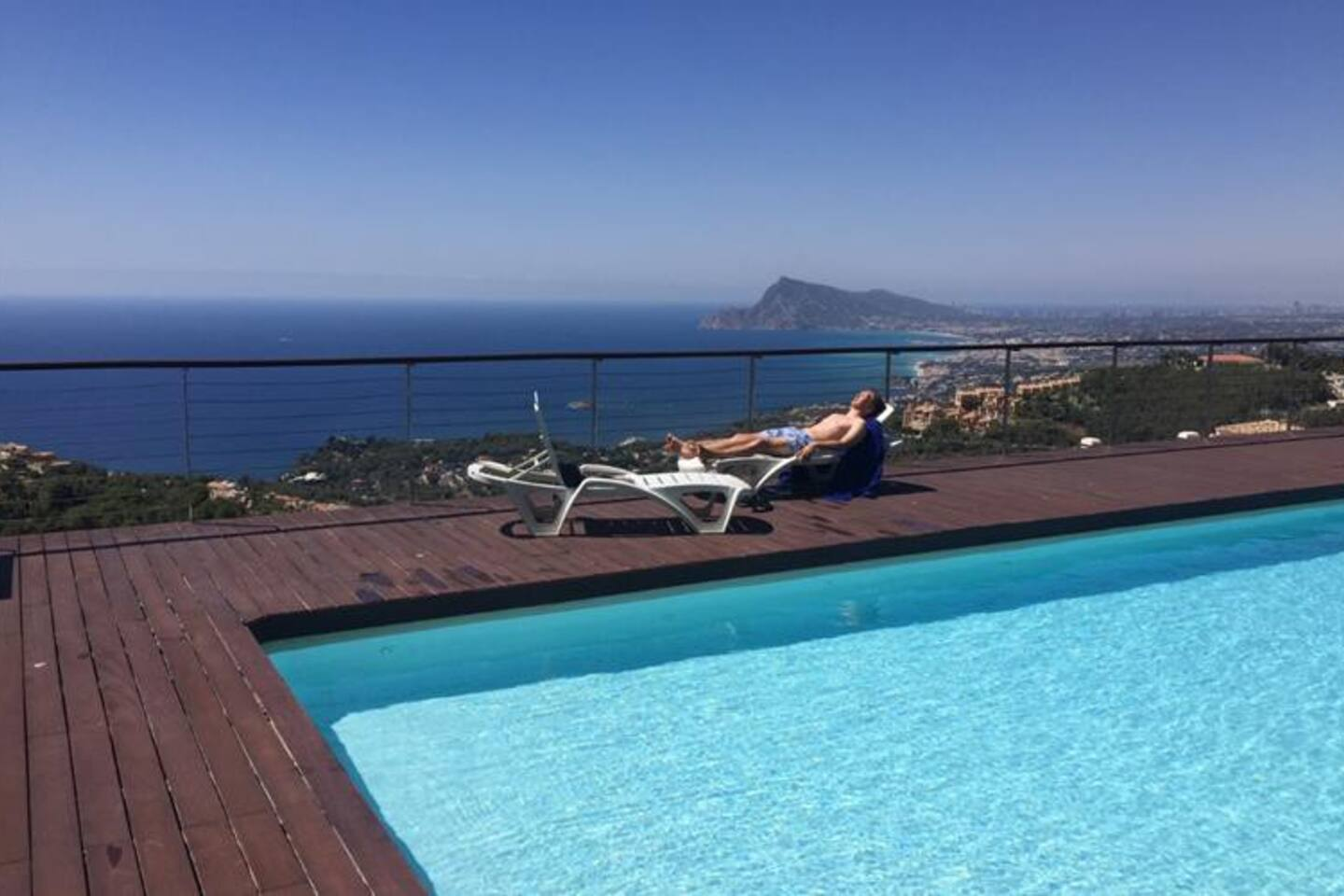 Pool area with stunning views over Altea