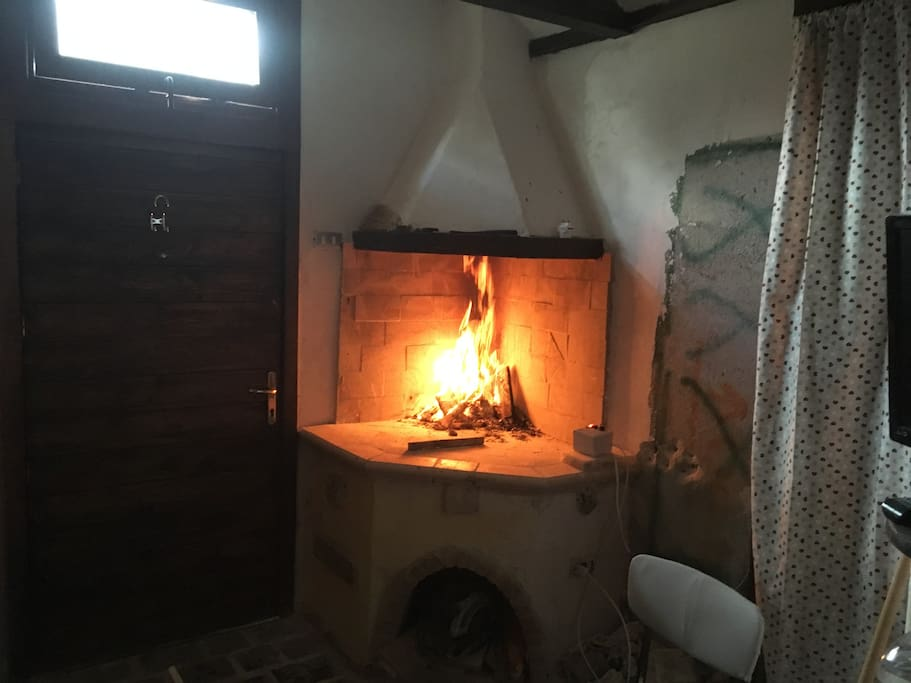 Fireplace in Cantina/ground floor.  suitable for cooking.