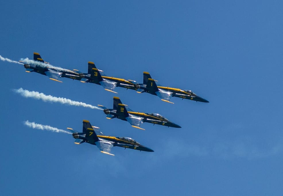 Perfect spot to watch the Blue Angels