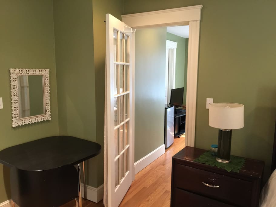 Another shot of the door connecting your bedroom to your living room