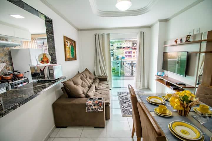 Apartamento 201 · Descanse no centro de Domingos Martins