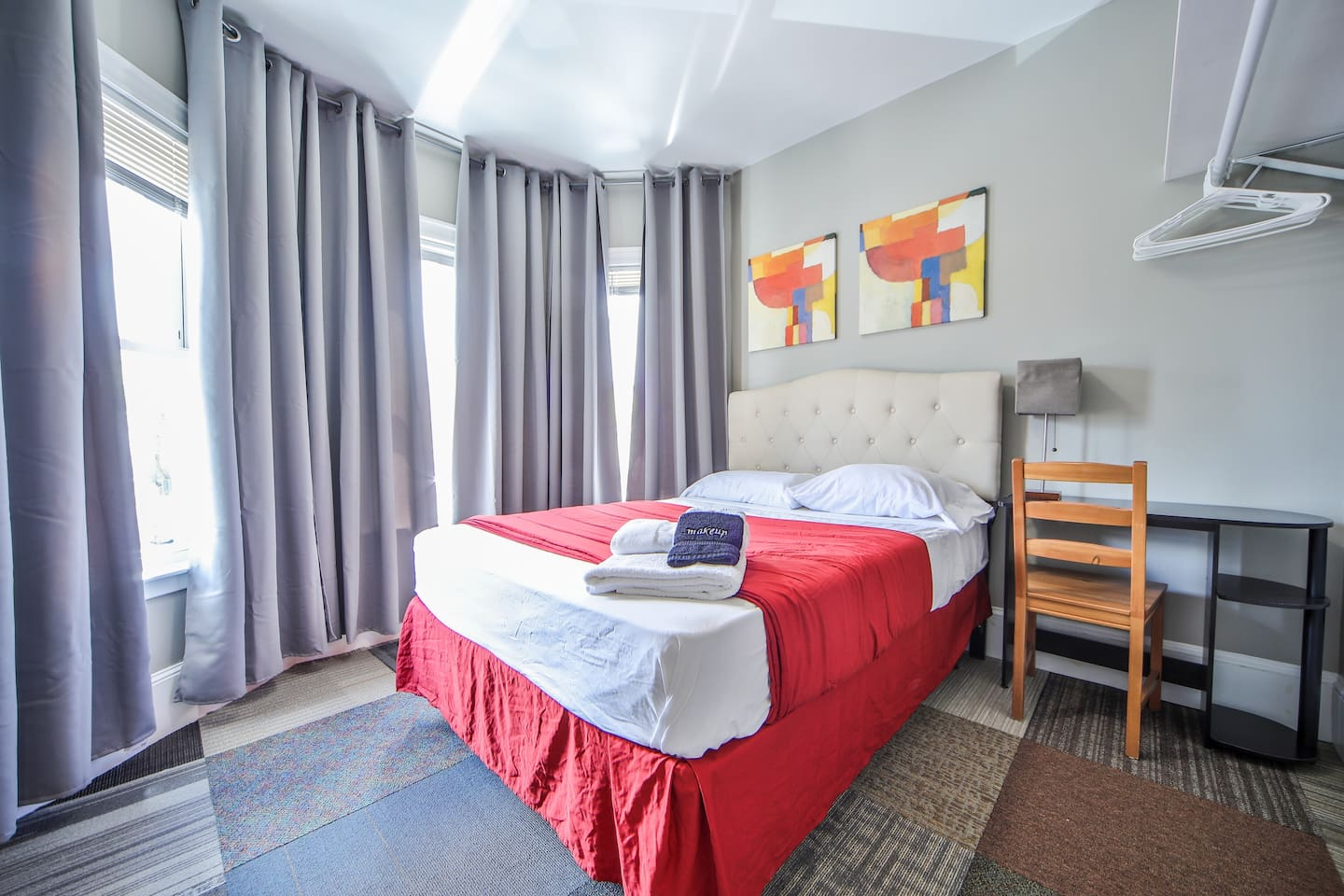 Lovely room with comfortable mattress.