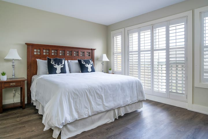 Master Bedroom located on the second floor with views of Monterra Golf Course