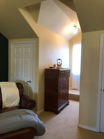 Large and comfortable bedroom.