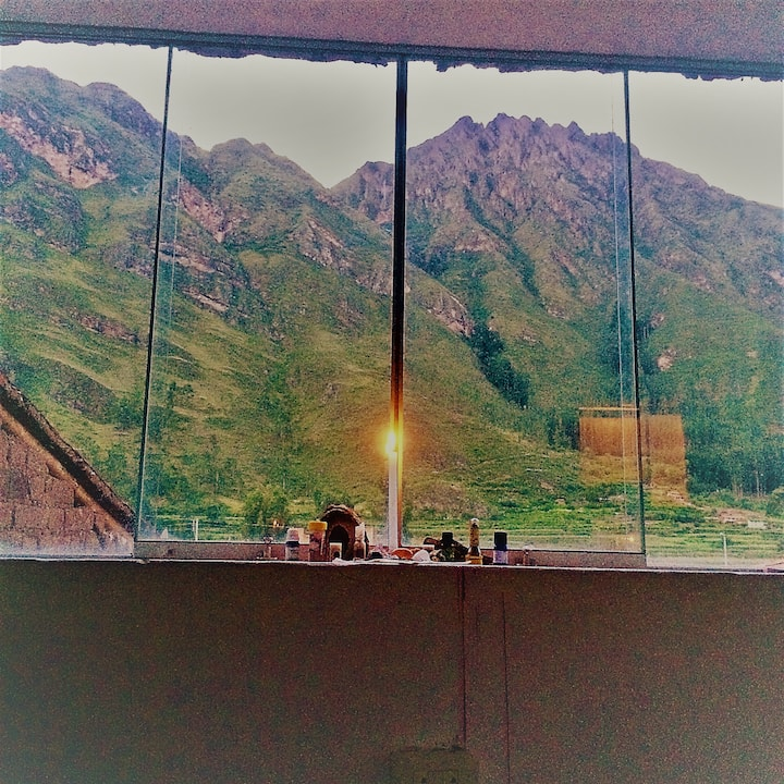 Queen bed with amazing views in the Sacred Valley