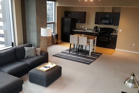Spacious hi-rise apartment with a view of Lake Union. 99 Walkscore, great location for shopping, dining, entertainment. Very close to Capitol Hill, Belltown, Pike Place Market, and South Lake Union.