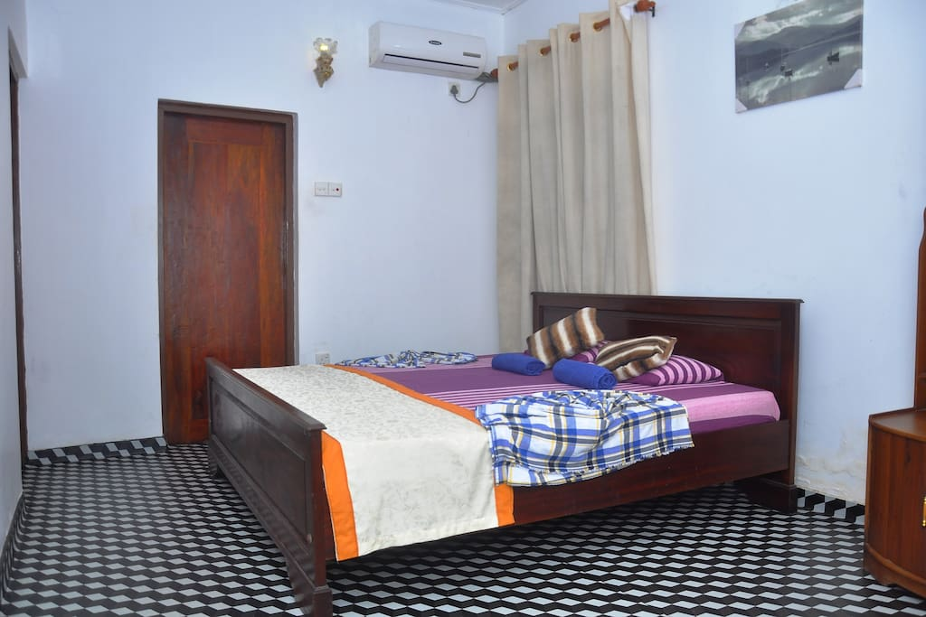 specious bed rooms, cozy bed , fan..